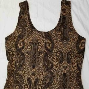 Tops - Cami Black and gold size S.